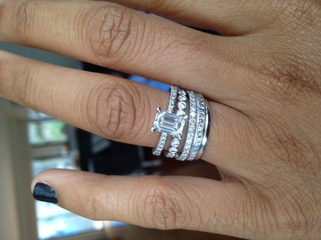 me&myboys's 10 Year Anniversary:  1.01 Ct Emerald Cut Ring (Top View) - image by me&myboys