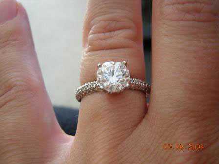 Stellamarina's 1.24 Carat Vatche Half Pave Engagement Ring (Hand View) - image by Stellamarina