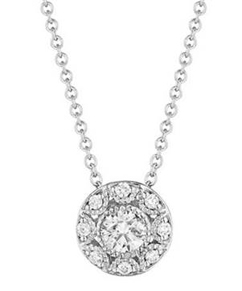 Crescent diamond necklace by Tacori