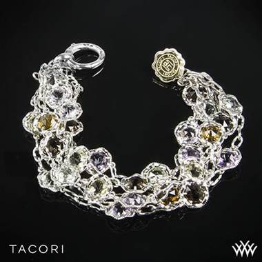 Tacori SB100Y Color Medley Multi-Strand Bracelet in Sterling Silver with 18k Yellow Gold Accents at Whiteflash