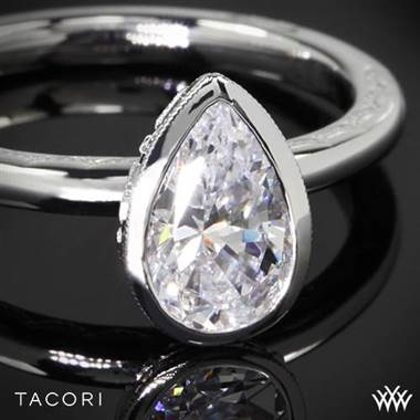 18k Yellow Gold Tacori 300-2PR Starlit Pear Bezel Solitaire Engagement Ring at Whiteflash