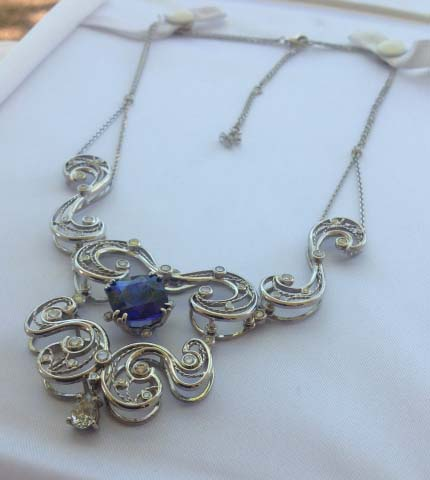 Tanzanite and diamond necklace shared by Tanzigrrl