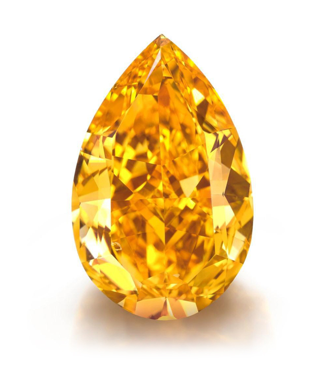 14.82-carat fancy vivid orange diamond • Christie's