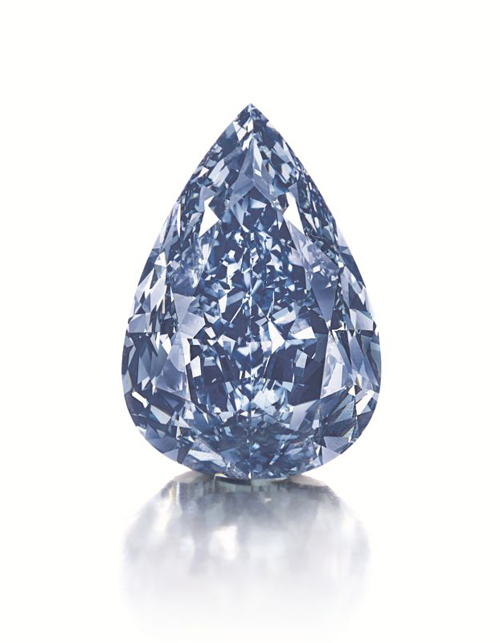 Largest Flawless Vivid Blue Diamond in the World to Be Auctioned at Christie's