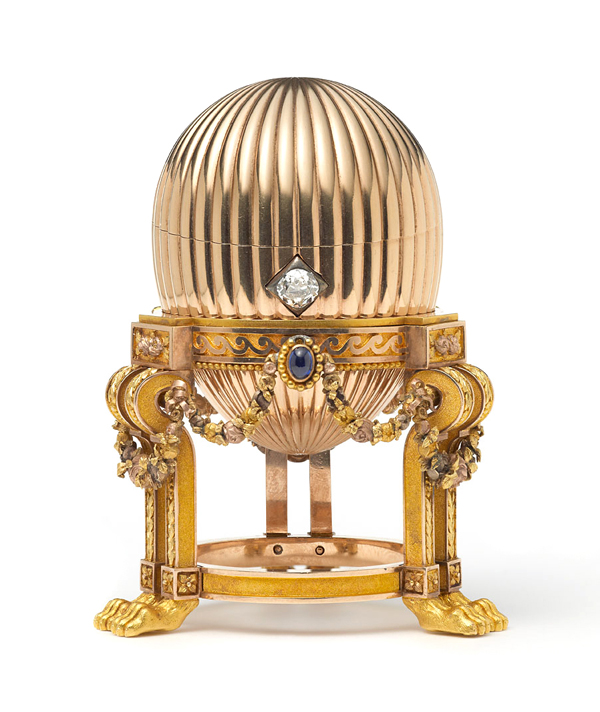 Fabergé imperial egg on display at Wartski in April 2014