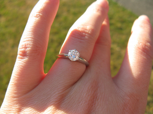 The Tiffany Setting, Diamond Solitaire on the Hand