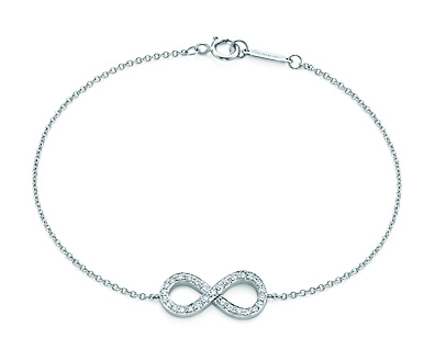 Tiffany & Co. Infinity bracelet in platinum with diamonds