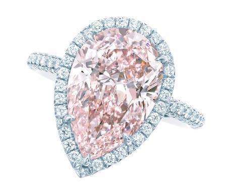 Tiffany pink diamond ring
