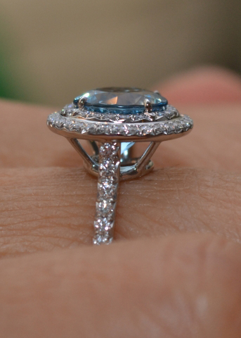 Tiffany Soleste Ring with Aquamarine
