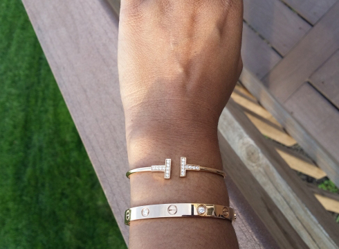 Rose Gold Tiffany T And Cartier Love Bracelets Image By Pinkprashu
