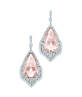 Tiffany 2013 Blue Book Collection morganite and diamond earrings