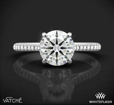 Platinum Vatche 1515 Inara Pave Diamond Engagement Ring at Whiteflash