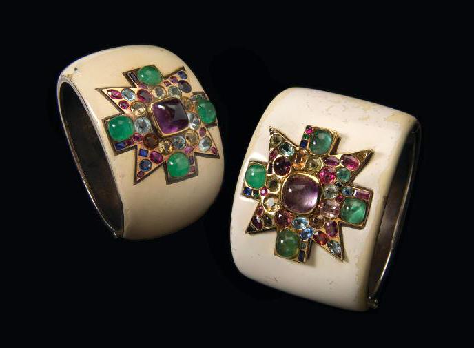Coco Chanel's original Maltese Cross cuffs designed by Fulco di Verdura circa 1930