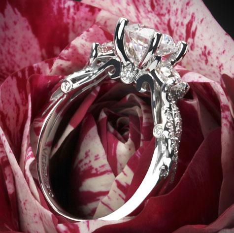 Verragio Twisted Shank 3-Stone Diamond Engagement Ring from Whiteflash