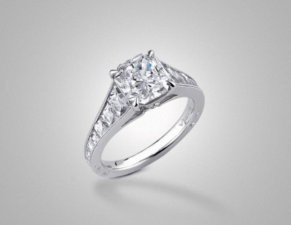 The Sophia French-Cut Solitaire with Radiant by Victor Canera