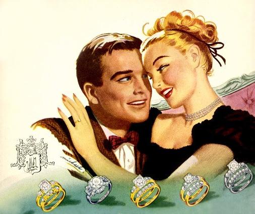 Vintage Keepsake diamond engagement rings advertisement