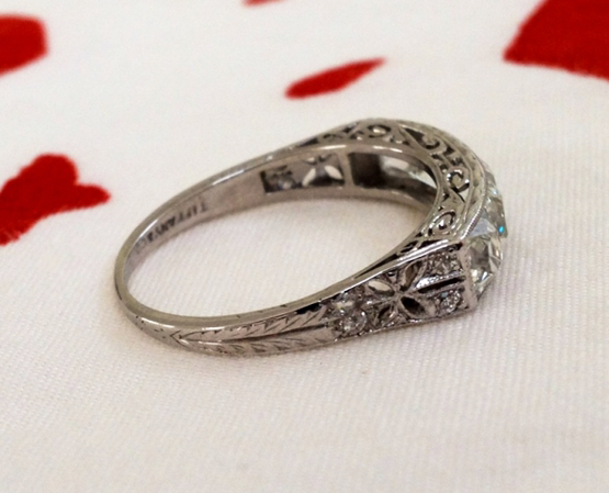 Vintage Tiffany French Cut Diamond Ring