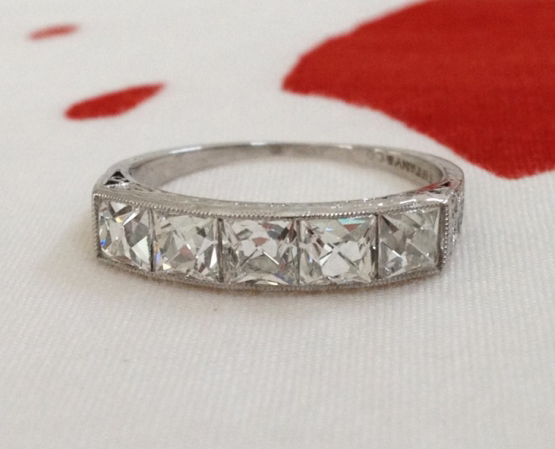 Jewel of the Week Tiffany Co Art Deco FrenchCut Diamond Ring
