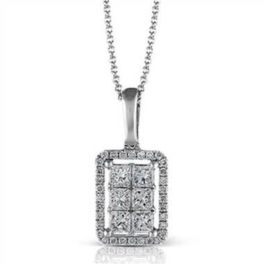 "Zeghani ZP436 ""Vintage Vixen Collection"" Rectangular Shape Diamond Pendant at Solomon Brothers"
