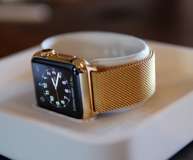 Gold plated stainless steel Apple Watch from WatchPlate.com