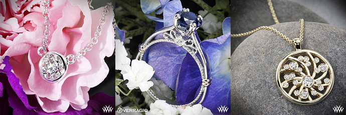 Whiteflash Diamond Pendants and Verragio Ring