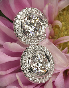 Ritani diamond earrings at Whiteflash