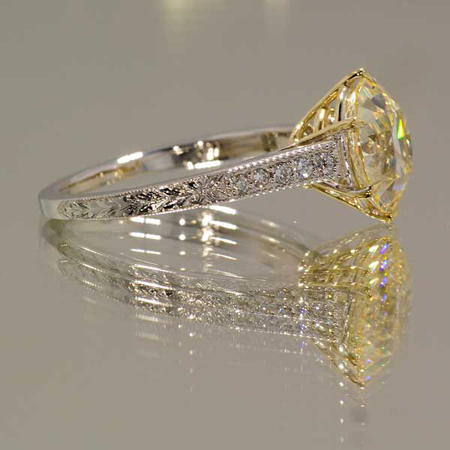 Custom-made engagement ring from High Performance Diamonds