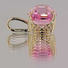 Pink OctaCZ pendant from High Performance Diamonds