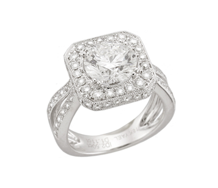 Yael Novelique Halo Diamond Engagement Ring