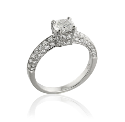 'Yael Novelique Solitaire Diamond Engagement Ring