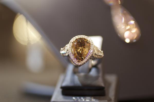 Yael Designs Fancy Deep Brown Diamond Ring