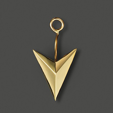 Zoe Chicco 14k yellow gold arrowhead single earring jacket