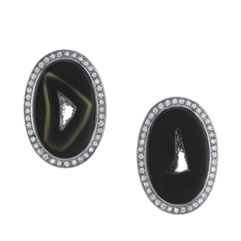 Adeler Onyx and Diamond Earrings
