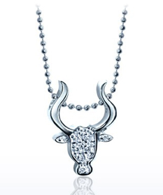 Little Signs Taurus diamond pendant by Alex Woo