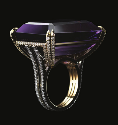 >Alexandra Mor amethyst and pave diamond ring &#8221; width=&#8221;393&#8243; height=&#8221;417&#8243; /></p> <p align=
