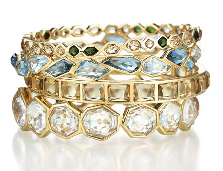 18k bangle bracelets by Allia