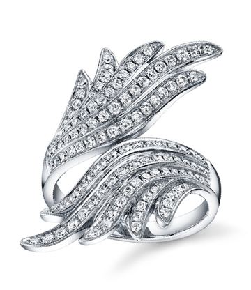 Anita Ko pave diamond fan ring