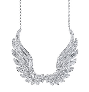 Anita Ko pave diamond Wings Necklace