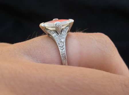 Antique Diamond Ring with Marquise Cut