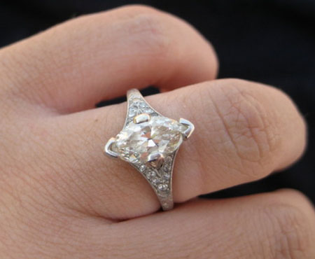 Antique Marquise Cut Diamond Ring