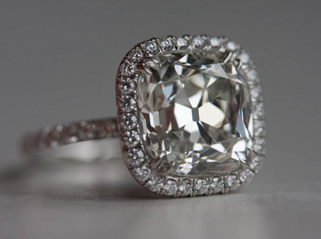 Jewel Of The Week 5 Carat Cushion Cut Diamond Ring Pricescope
