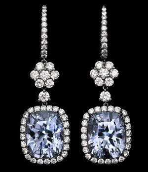 Aqumarine Diamond Earrings