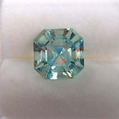 asscher cut aquamarine