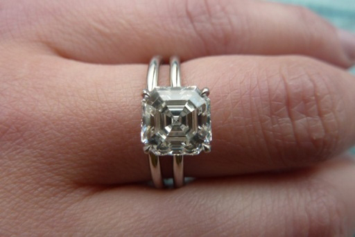 white cut view asscher engagement ring rings wedding montreal