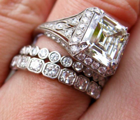Emerald Cut Diamond Wedding Ring 62 Awesome Asscher cut engagement rings
