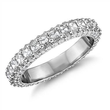 Bella Vaughan grandeur Asscher-cut diamond ring set in platinum at Blue Nile