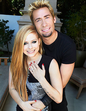 Avril Lavigne and Chad Kroeger: celebrity engagements 2012
