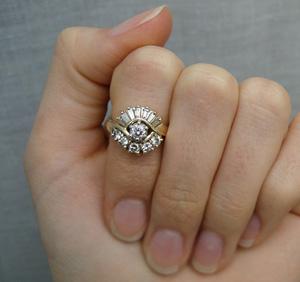 Ballerina style diamond ring