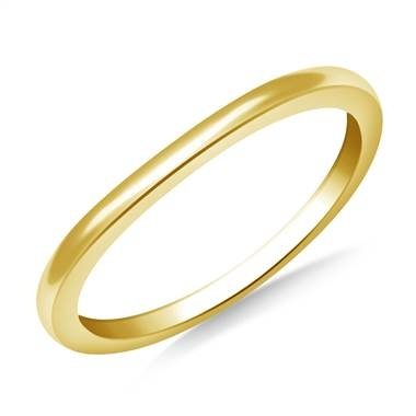 Curved wedding band set in 14K yellow gold at B2C Jewels