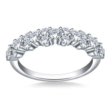Classic half eternity wedding band set in 14K white gold at B2C Jewels